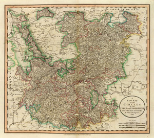 Art Prints of Upper and Lower Rhine Circles, 1799 (1657028) by John Cary