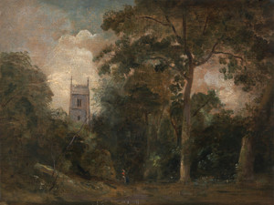 A Church in the Trees by John Constable | Fine Art Print