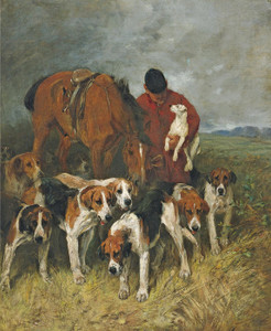 Art Prints of The Huntsman and His Hounds by John Emms