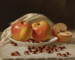 Art Prints of Apples and Chestnuts by John F. Francis