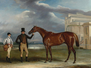 Art Prints of Sir Boswell's General Chasse with Trainer, and Jockey by John Ferneley