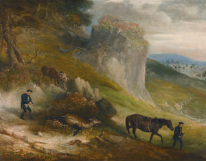 Art Prints of Stalking, Sighting the Prey and the Journey Home by John Ferneley