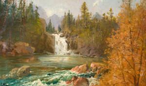 Art Prints of Red Eagle Falls on Red Eagle Creek by John Fery