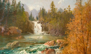Art Prints of Red Eagle Falls on Red Eagle Creek by John Fery
