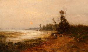 Art Prints of Sunset Over the Lake by John Fery