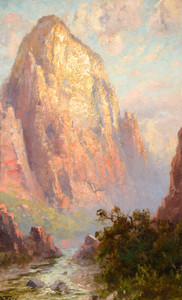 Art Prints of The Great White Throne, Zion National Park by John Fery