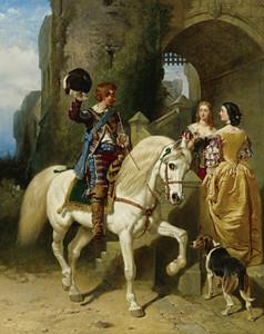 Art Prints of A Cavalier's Visit by John Frederick Herring