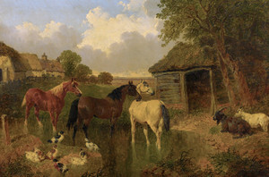 Art Prints of A Farmyard II by John Frederick Herring