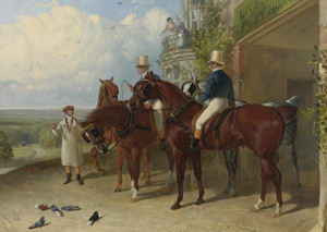 Art Prints of A Change of Horses Waiting for the Coach by John Frederick Herring