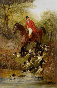 Art Prints of Crossing the Stream by John Frederick Herring