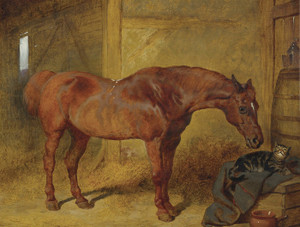 Art Prints of In the Stable by John Frederick Herring