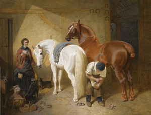 Art Prints of Shoeing Imaum by John Frederick Herring