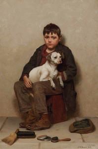 Art Prints of True Friends by John George Brown