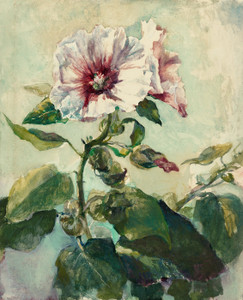 Art Prints of Study of Pink Hollyhocks in Sunlight from Nature by John La Farge