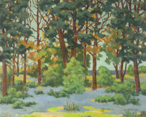 Art Prints of Wildflowers in a Grove by John Marshall Gamble
