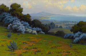 Art Prints of Wild Lilac and Poppies by John Marshall Gamble