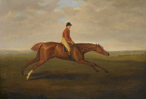Art Prints of Eclipse with Jockey John Oakly up at Newmarket by John Nost Sartorius