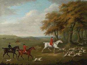Art Prints of The Duke of Beaufort's Hunt, Breaking Cover by John Nost Sartorius