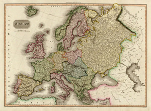 Art Prints of Europe, 1814 (0732005) by John Pinkerton