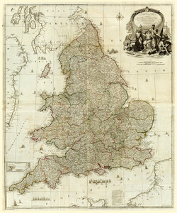 Art Prints of Composite, England and Wales, 1790 (0411010) by John Rocque