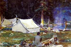 Art Prints of Camping near Lake O'Hara by John Singer Sargent
