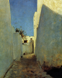 Art Prints of Detail of a Moroccan Street Scene by John Singer Sargent