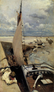 Art Prints of Low Tide at Cancale Harbor by John Singer Sargent