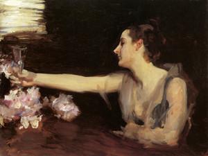 Art Prints of Madame Gautreau Drinking a Toast by John Singer Sargent