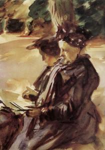 Art Prints of Mrs. Sargent Sketching by John Singer Sargent