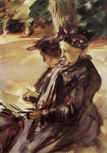 Art Prints of Mrs. Sargent Sketching by John Singer Sargent