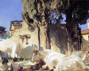 Art Prints of Oxen Restin by John Singer Sargent