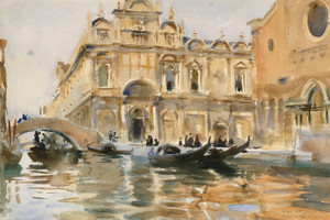 Art Prints of Rio dei Mendicanti, Venice by John Singer Sargent