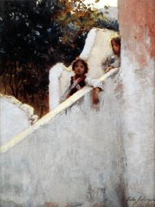 Art Prints of Ricordi di Capri or Memories of Capri by John Singer Sargent