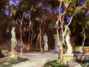 Art Prints of Shady Paths, Vizcaya by John Singer Sargent