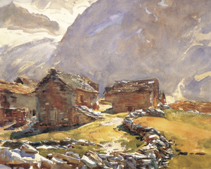 Art Prints of Simplon Pass Chalets by John Singer Sargent