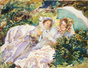 Art Prints of Simplon Pass, the Tease by John Singer Sargent