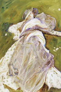 Art Prints of Woman Reclining by John Singer Sargent