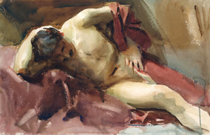 Art Prints of Italian Model I by John Singer Sargent