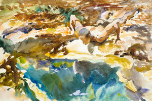 Art Prints of Man and Pool, Florida by John Singer Sargent