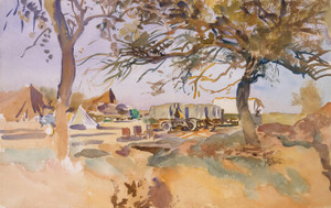 Art Prints of Military Camp by John Singer Sargent