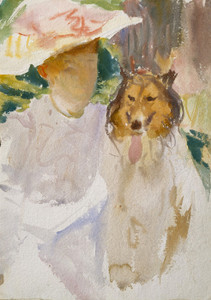 Art Prints of Woman with Collie by John Singer Sargent