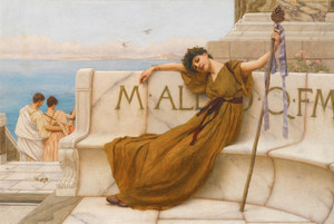 Art Prints of A Priestess of Bacchus by John William Godward