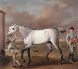 Art Prints of The Duke of Hamilton's Grey Racehorse Victorious by John Wootton