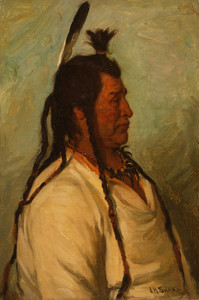 Art Prints of Big Brave Blackfeet Dance Chief by Joseph Henry Sharp