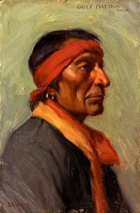 Art Prints of Chief Flat Iron by Joseph Henry Sharp