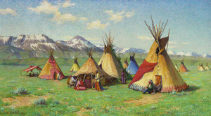 Art Prints of The Medicine Teepee by Joseph Henry Sharp