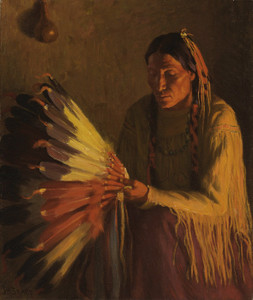 Art Prints of The War Bonnet by Joseph Henry Sharp