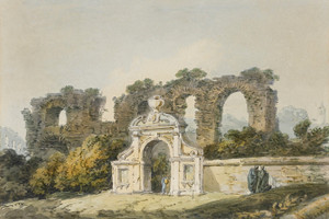 Art Prints of Roman Figures by a Gateway by Joseph Mallord William Turner