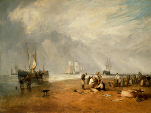 Art Prints of The Fish Market at Hastings Beach by William Turner