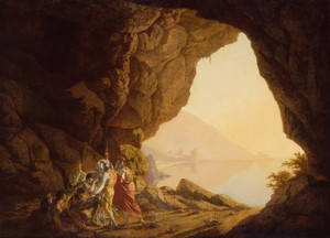 Art Prints of Seaside Grotto in the Kingdom of Naples by Joseph Wright of Derby